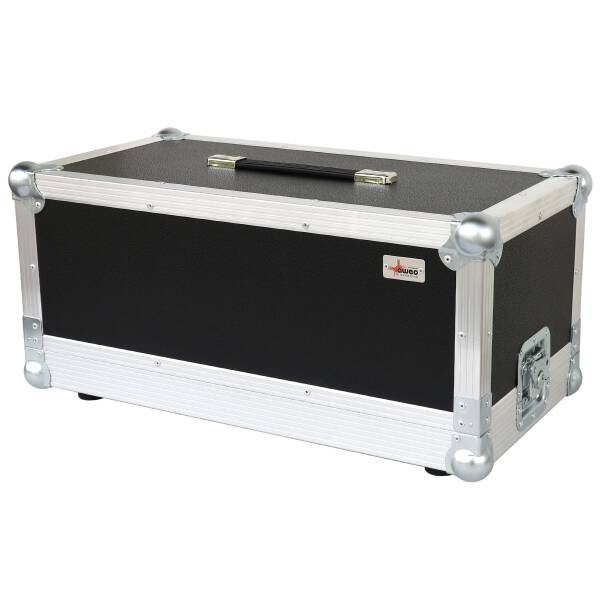 Flightcase für Fender Bassmann 800 Head orange (RAL 2008) 1 Riemengriff + 2 Klappgriffe