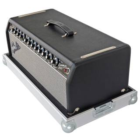 Flightcase für Fender Bassman 800 Head blau (RAL 5005) 1 Riemengriff + 2 Klappgriffe