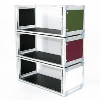 Custom Studio-Rack 19 Zoll Tischrack Birke PVC Struktur...