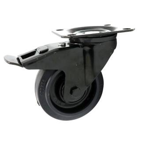 All Black Lenkrolle 100 mm schwarz mit Feststeller 150 kg