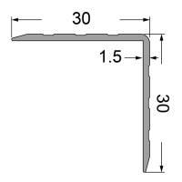 Penn Elcom Aluminium Kantenschutz 30x30 mm eloxiert