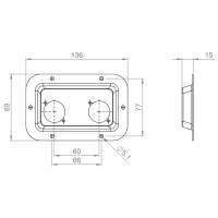 Adam Hall 87085 BLK Boxen Einbauplatte für 2...