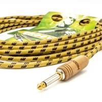 Sommer Cable Vintage Instrumentenkabel 6,35 mm Hicon Holz Klinkenstecker 6 m