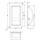Adam Hall 3400 Schalengriff Boxengriff Stahl 280 x 160 mm
