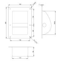 Adam Hall 3402 Boxengriff Schalengriff Stahl schwarz 220 x 162 mm
