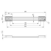 Adam Hall 3427 Koffergriff Riemengriff schwarz 280 mm