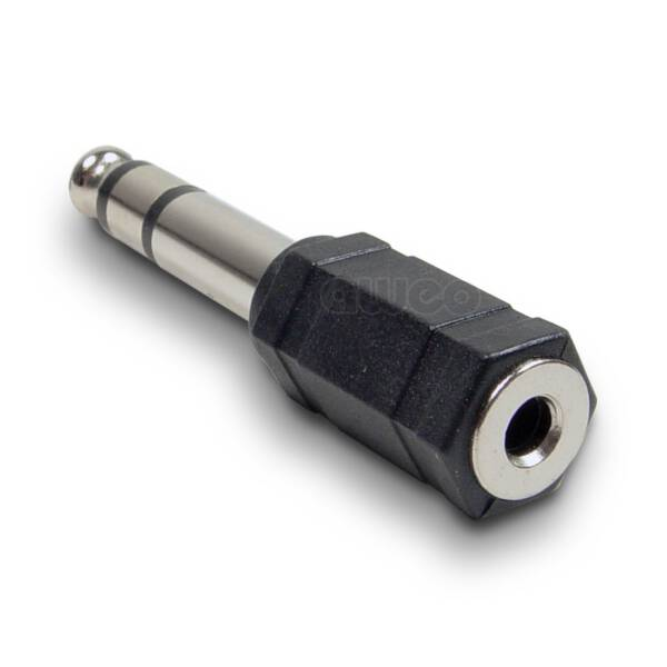 Adam Hall 7543 - Adapter 3,5 mm stereo Klinke female auf 6,3 mm stereo Klinke