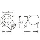 Adam Hall 41261 - Kugelecke mittel stapelbar mit integrierter L-Ecke 42,5 mm gekröpft