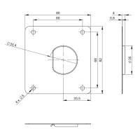 Adam Hall 16542 - Sliding Latch System Blende für...