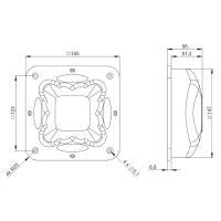 Adam Hall 3403 Boxengriff Griffschale Kunststoff 155 x 155 mm