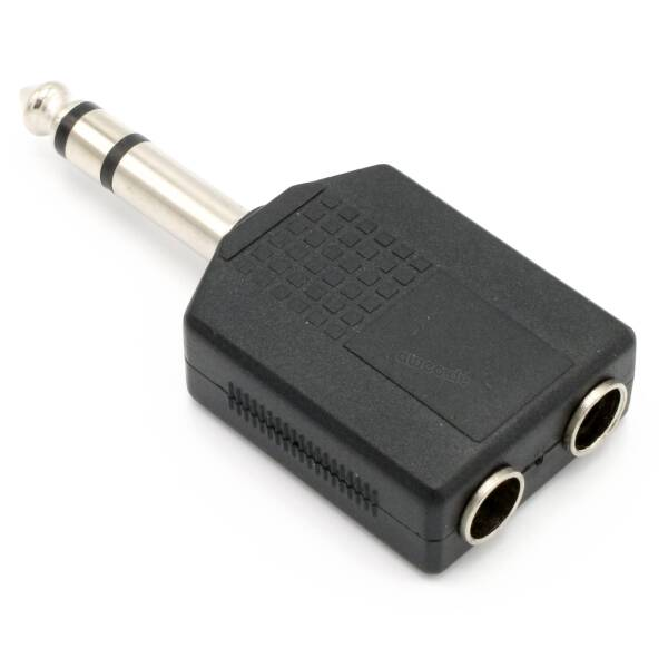 Adam Hall 7546 - Y-Adapter 2 x 6,3 mm stereo Klinke female auf 6,3 mm stereo Klinke male