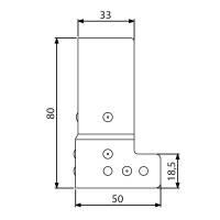 Adam Hall 40405 L-Ecke Schließwinkel 50 x 80 mm...