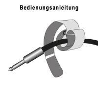 Adam Hall VR 2530 BLK - Klett Kabelbinder 30 cm schwarz