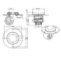 Adam Hall 37042 Lenkeinbaurolle mit Kunststoffrad