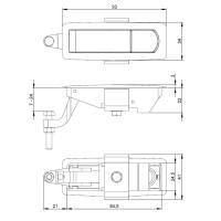 Adam Hall 1655 - Hebelverschluss Metal schwarz