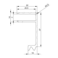 Adam Hall 6146 Aluminium Deckelrahmen 37 mm Einschub 7 mm
