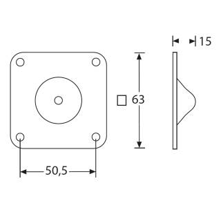 Adam Hall 4937 - Stapelfuß male Stahl verzinkt 63 x 15 mm