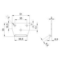 Adam Hall 1725 KEEP - Schließhaken für Aufbau Butterfly Verschluss groß