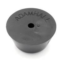 Adam Hall 4901 Gummifuß 30 x 15 mm schwarz mit Stahleinlage