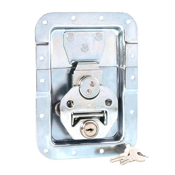 Adam Hall 17251 LS - Butterfly Verschluss groß gefedert abschließbar gekröpft 14 mm tief