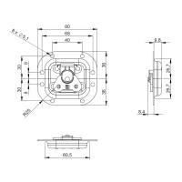 Adam Hall 17373 S Butterfly Verschluss klein gefedert 10 mm tief
