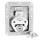 Adam Hall 17290 LS Butterfly Verschluss mittel abschließbar 14 mm tief