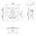 Adam Hall 17294 SP - Butterfly Verschluss mittel gefedert gekröpft 14 mm tief mit Öse