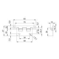 Adam Hall 2252 Aushängescharnier groß 36x82 mm...