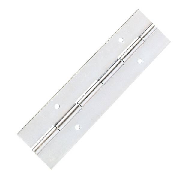 Adam Hall 2605 - Klavierband Stahl verzinkt vorgebohrt 183 cm x 38 mm
