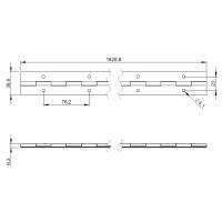 Adam Hall 2605 - Klavierband Stahl verzinkt vorgebohrt...
