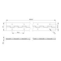Adam Hall 2606 - Klavierband Stahl verzinkt vorgebohrt...