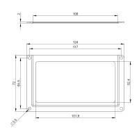 Adam Hall 2890 Etikettenhalter für Beschriftungsschilder 124 x 72 mm