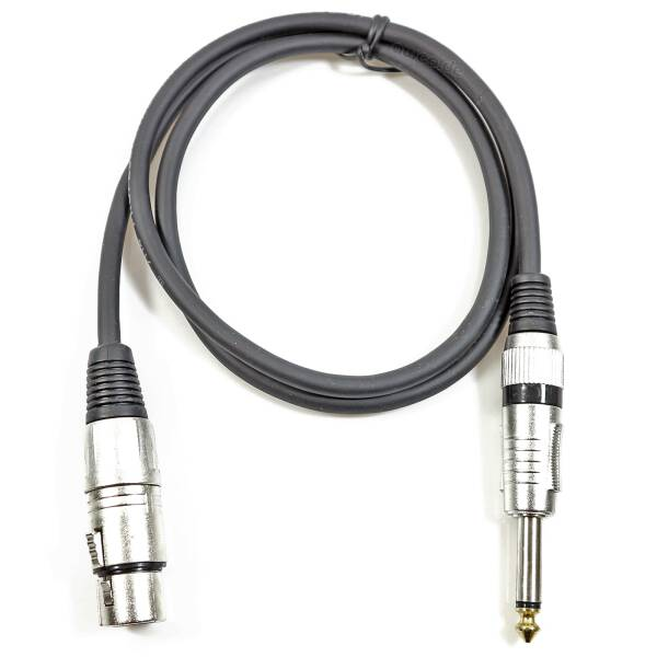 1 m Adapterkabel XLR female auf 6,3 mm Klinke mono