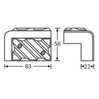 Adam Hall 4013 Boxenecke Kunststoff schwarz stapelbar