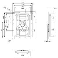 Adam Hall 172501 - V3 Automatik Butterfly Verschluss...