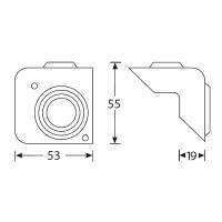 Adam Hall 4018 Boxenecke schwarz stapelbar für Boxenfront