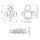 Adam Hall 17250 CL - Butterfly Verschluss groß abschließbar ohne Schale ohne Haken