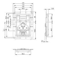 Adam Hall 172511 L V3 Automatik Butterfly Verschluss...