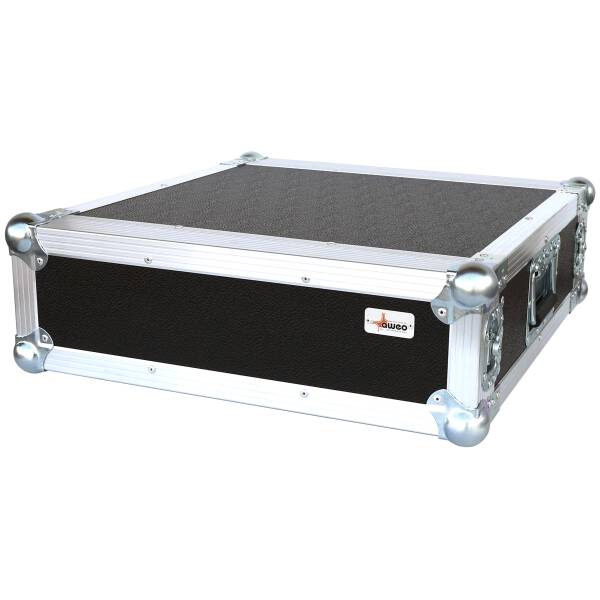 3 HE Rack 19 Double Door 39 CM Flightcase 7 mm MPX