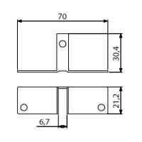 Adam Hall 4272 Trennwandbefestigung 6,7 mm