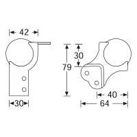 Adam Hall 41081 - Kugelecke groß mit integrierter...