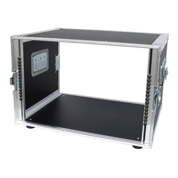 8 HE Rack 19 Double Door 39 CM Flightcase 7 mm MPX