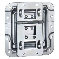 Adam Hall 270755 - Deckelaufsteller gekröpft mit Scharnier, Klick-Stop-Funktion und Nietschutz