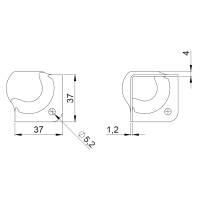 Adam Hall 40002 - Kugelecke klein quadratisch mit...