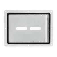 Adam Hall 88200 - Einbauschale mit Plexiglaseinsatz zum Dokumenteneinschub