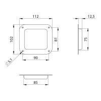 Adam Hall 38080 - Stapel Einbauschale für Rollen bis 100 mm