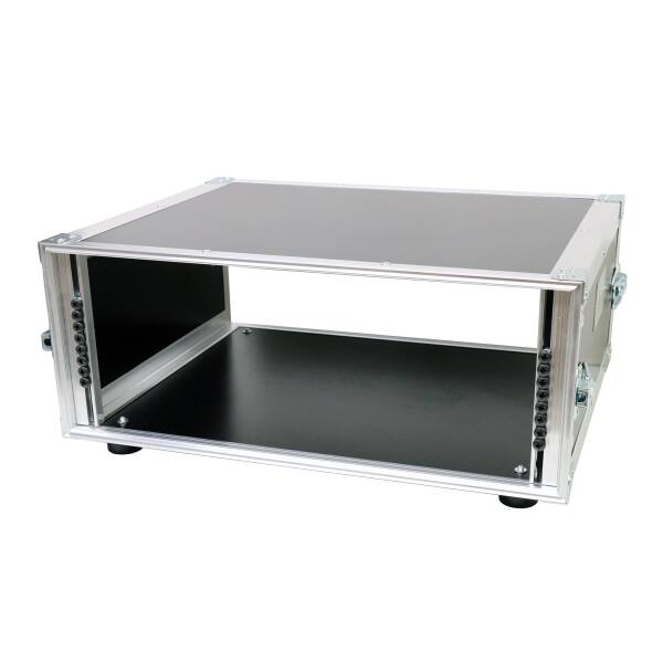 4 HE Rack 19 Double Door 39 CM Flightcase 7 mm MPX Rackschiene vorn & hinten