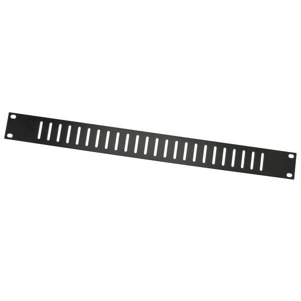 Adam Hall 8721 V 1HE Lüftungs- Rackblende 19 Zoll flach vertikale Schlitze