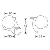Adam Hall 4129 Kugelecke mittel 51 mm mit L-Ecke 48 mm...