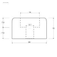 Adam Hall 4904 Gummifuß 25 x 15 mm mit Stahleinlage